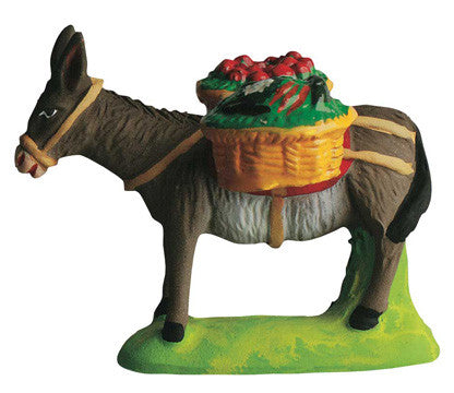 Donkey with Baskets of Fruit - Ane chargé de fruits - Size #2 / Elite