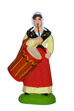 Woman with a Drum - Femme tambourinaire - Size #2 / Elite - New 2001