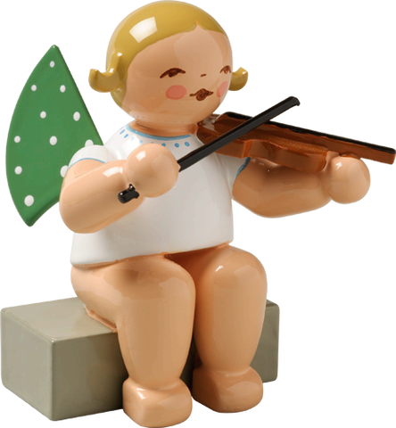 Angel Orchestra Musician Sitting with Violin