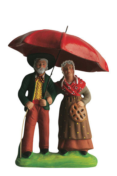 Couple under Umbrella - Couple sous le parapluie - Size #3 / Grande