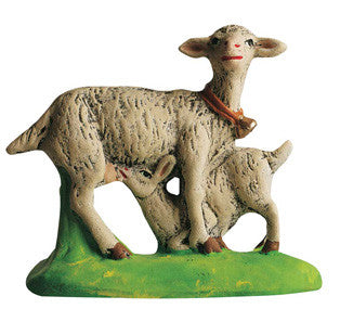 Goat with Kid - Chevre au chevreau - Size #3 / Grande
