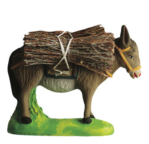 Donkey with Bundles of Sticks - Âne chargé de fagots -Size #3 / Grande