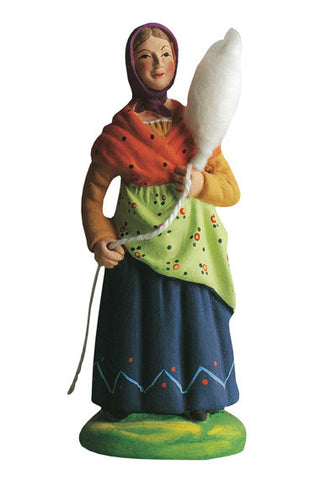 Woman Spinning Wool - Fileuse - Size #3 / Grande
