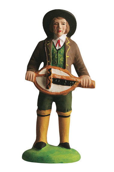 Man with a Medieval String Instrument - Homme a la vielle - Size #3 / Grande