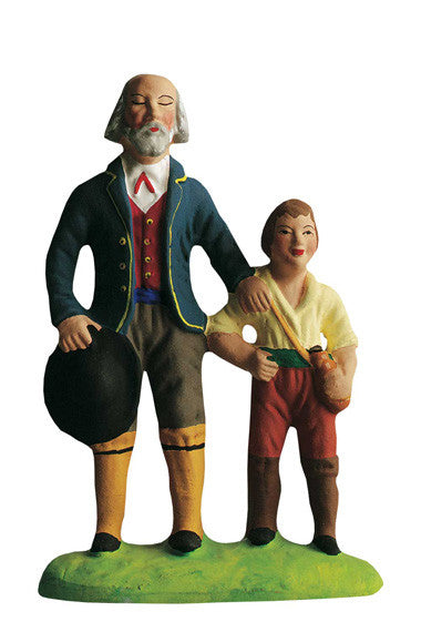 Blind Man and His Son - Aveugle et son fils - Size #3 / Grande