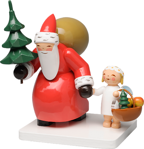 Santa Claus with Tree and Angel - New 2016