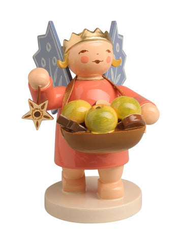 Angel Wearing Crown with Star and Basket of Fruit / New May 2019