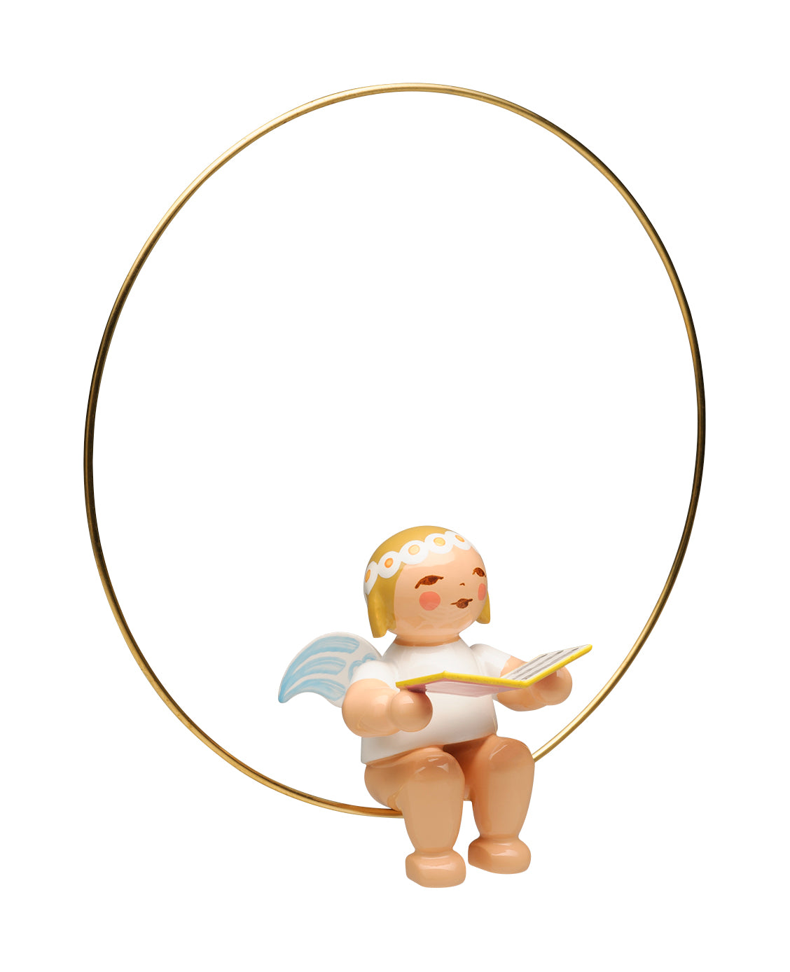 Angel with Songbook in a Ring Ornament - New 2018