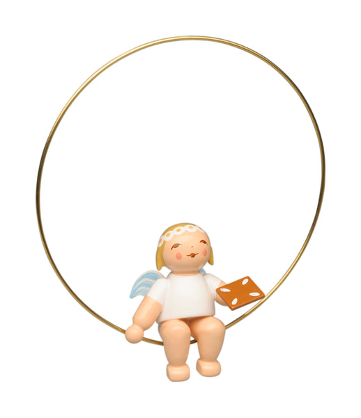 Angel with Gingerbread in a Ring Ornament - New 2020