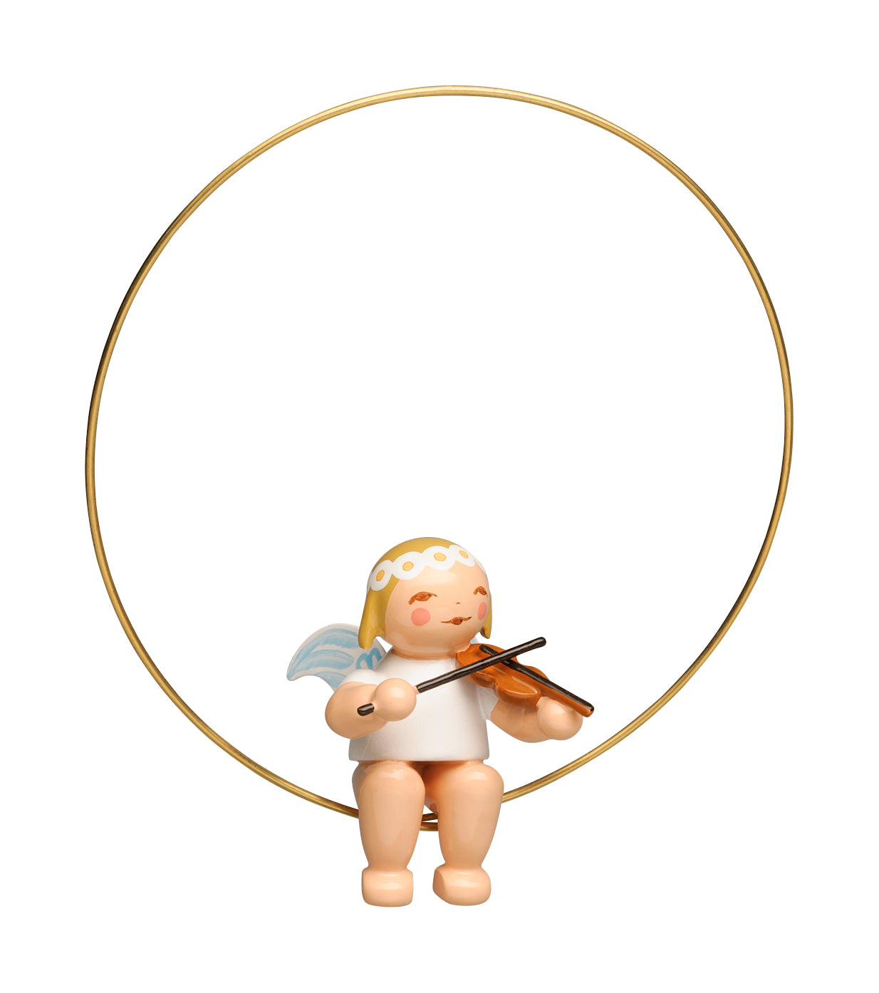 Angel with a Violin in a Ring Ornament