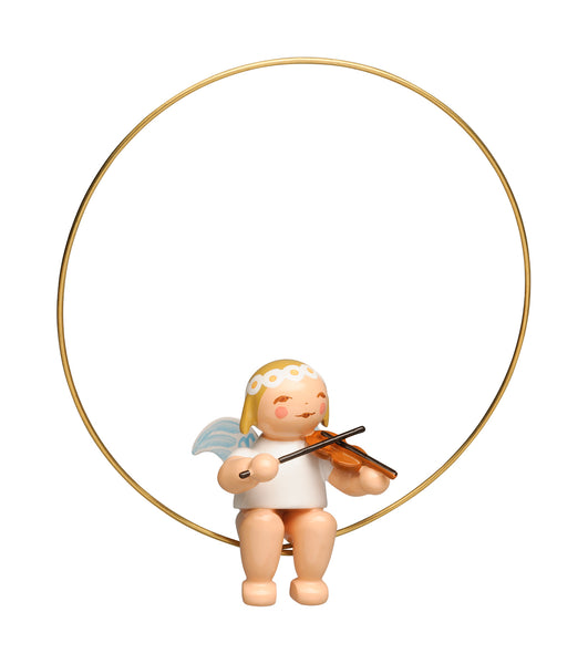 Angel with a Violin in a Ring Ornament - New 2017
