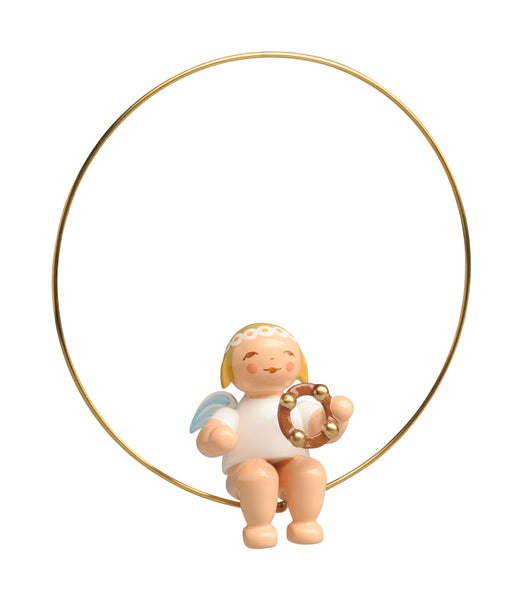 Angel with a Tambourine in a Ring Ornament - New 2019