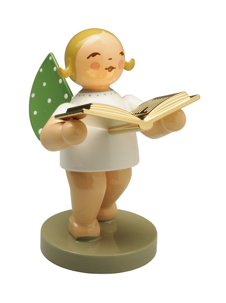 Grünhainichen Gold Edition Angel with Gold-Plated Book / The Reader / No. 10