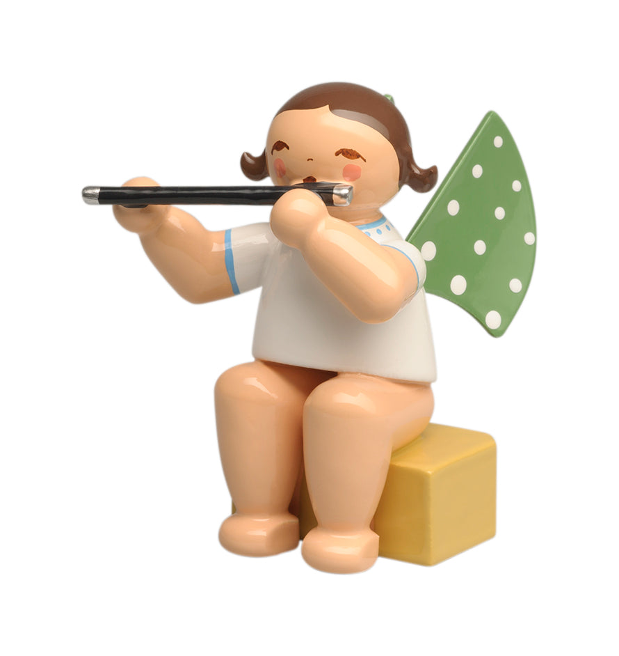 Small Grünhainichen Angel with Flute - New 2019