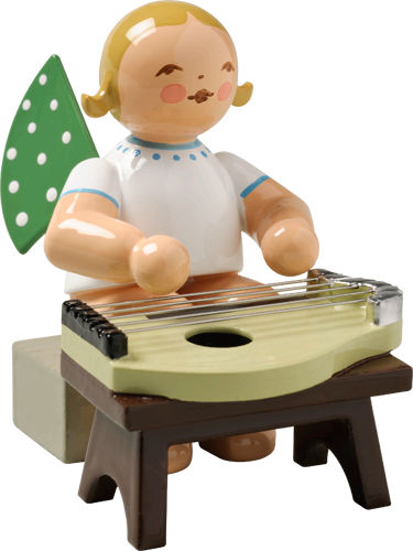 Angel Orchestra Seated Musician with Zither