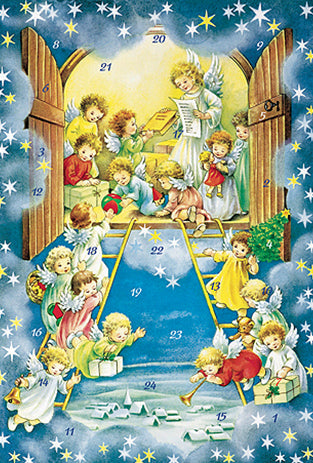 Angel Ladder Advent Calendar / GREETING CARD