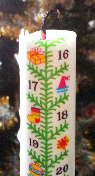 Advent Calendar Candle - Christmas Tree