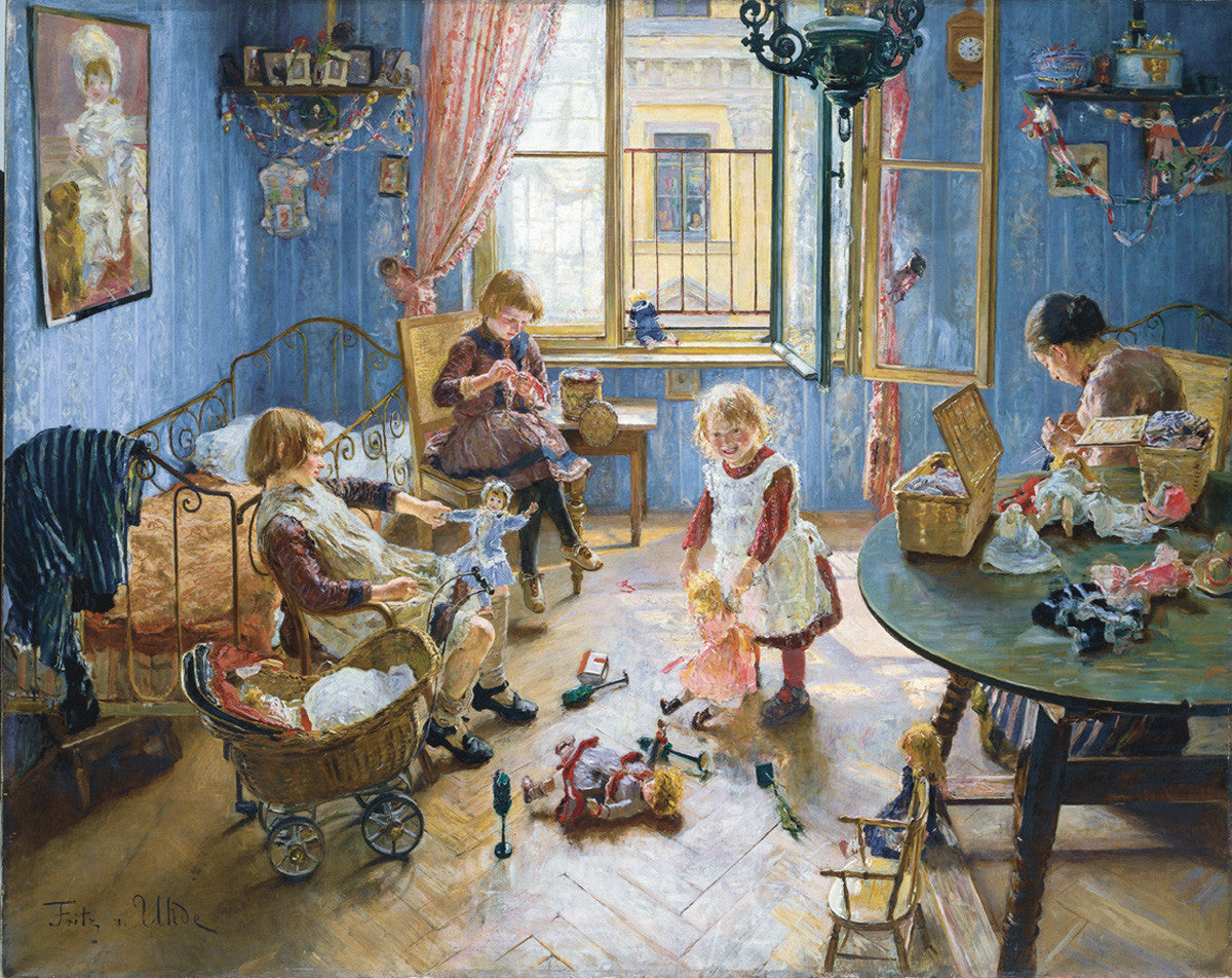 Victorian Children's Playroom by Fritz von Uhde Advent Calendar - Retired 2018