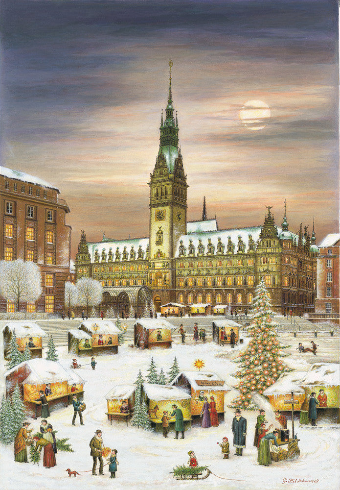 Hamburg Town Hall / Rathaus Christmas Market Advent Calendar