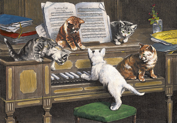 Mischievous Cats and a Piano Advent Calendar