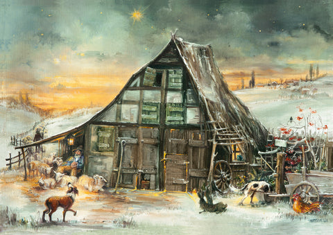 Holy Night / Heilige Nacht - Nativity Scene Advent Calendar
