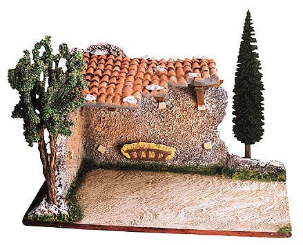 Stable ruins with trees -– Étable en ruines No. 2 bis avec arbres - Size #2 / Elite