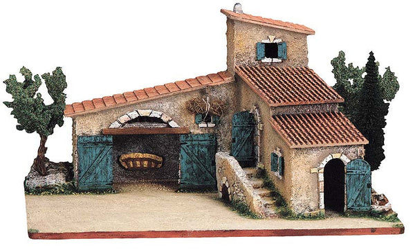 Provencal Farmhouse / Stable with Steps and Trees -– Mas Provençale No. 2 - Size # 2 / Elite - SPECIAL ORDER ONLY