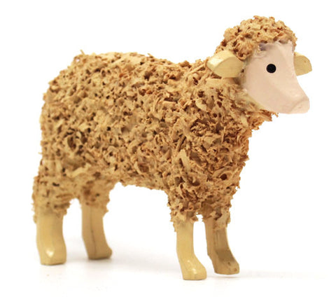 "Sheep, hand-carved - 1-3/4"" / Size Large"