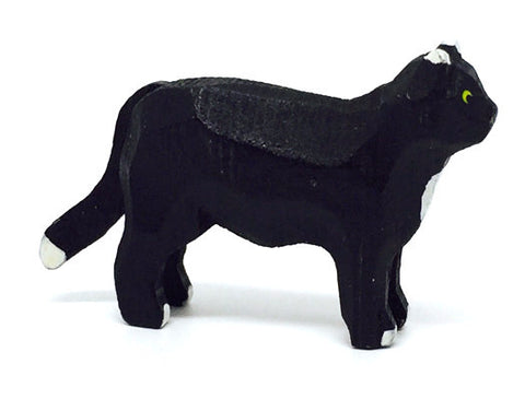 "Cat, hand-carved - 1-1/4"" / Size Large"