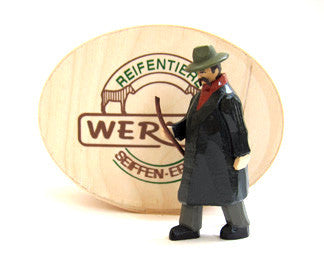 Christian Werner Shepherd with Wood Chip Gift Box