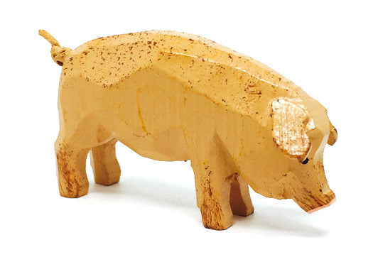 "Pig, hand-carved - 1-5/8"" / Size Large"