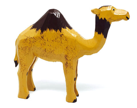 "Camel, hand-carved - 3-1/8"" / Size Large"