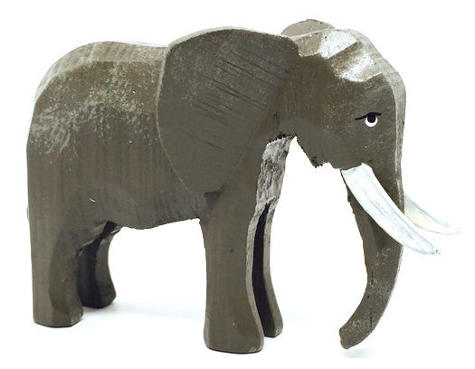 "Elephant, hand-carved - 3-1/8"" / Size Large"