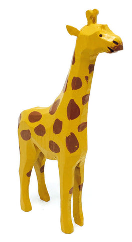 "Giraffe, hand-carved - 4-3/4"" / Size Large"