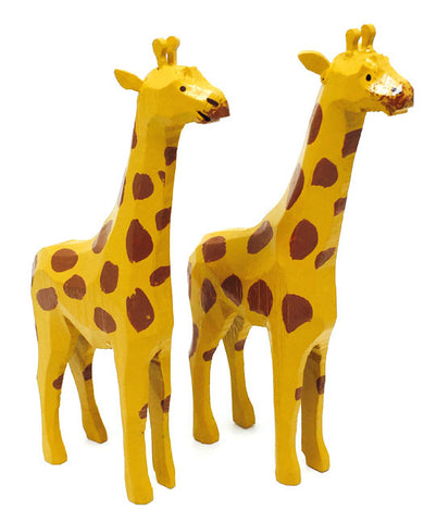"Giraffes, Pair of hand-carved - 4-3/4"" / Size Large"