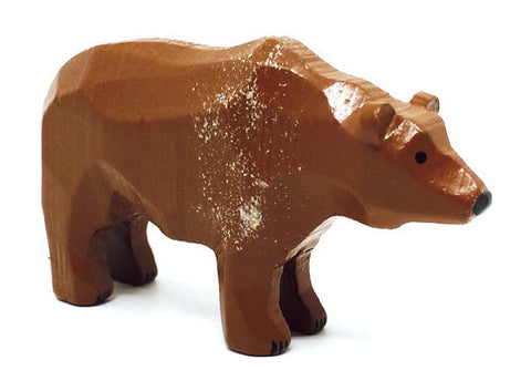 "Brown Bear, hand-carved - 1-3/4"" / Size Large"