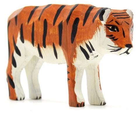 "Tiger, hand-carved - 1-3/4"" / Size Large"