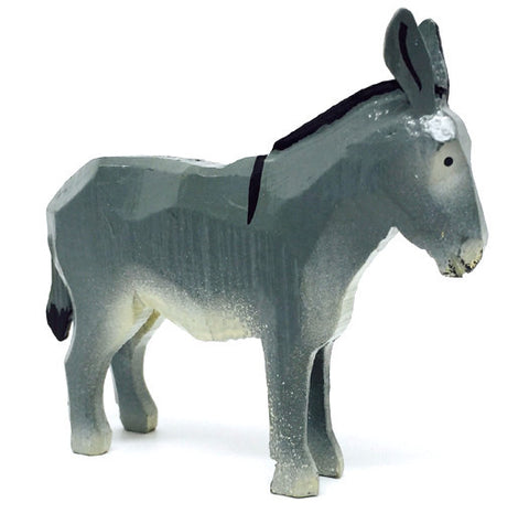 "Donkey, hand-carved - 2-3/4"" / Size Large"