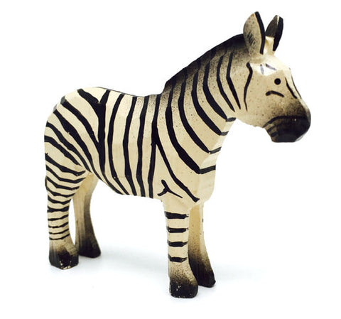 "Zebra, hand-carved - 2-5/8"" / Size Large"