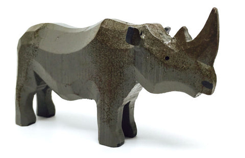 "Rhinoceros, hand-carved - 2-1/2"" / Size Large"