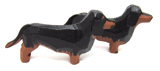 "Dachshunds, Pair of hand-carved - 1-1/8"" / Size Large"