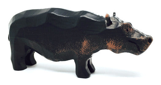 "Hippopotamus, hand-carved - 2"" / Size Large"