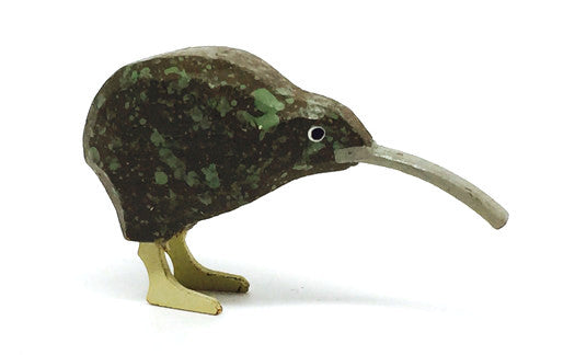 "Kiwi, hand-carved - 1"" / Size Large"