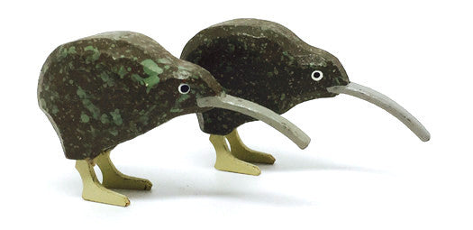 "Kiwi, Pair of hand-carved - 1"" / Size Large"