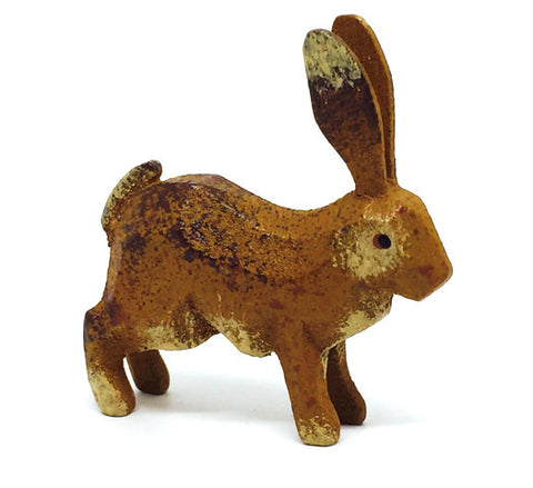 "Rabbit (Running), hand-carved - 2"" / Size Large"