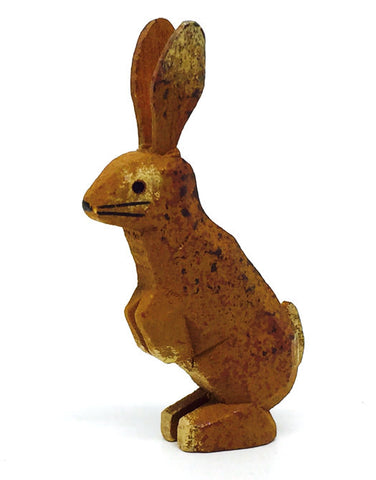 "Rabbit (Standing), hand-carved - 1-5/8"" / Size Large"