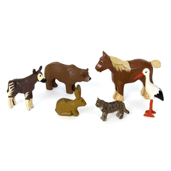 Noah's Ark Animals - 6 Pairs Assortment #2 / Size Small