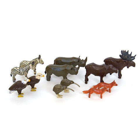 Noah's Ark Animals - 6 Pairs Assortment #3 / Size Small
