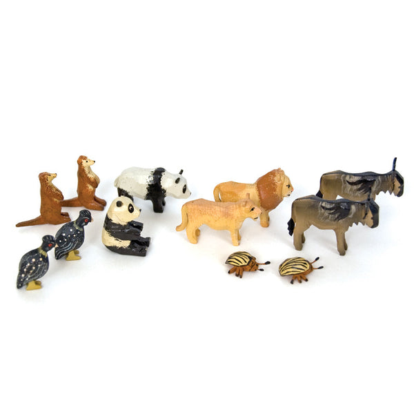 Noah's Ark Animals - 6 Pairs Assortment #4 / Size Small