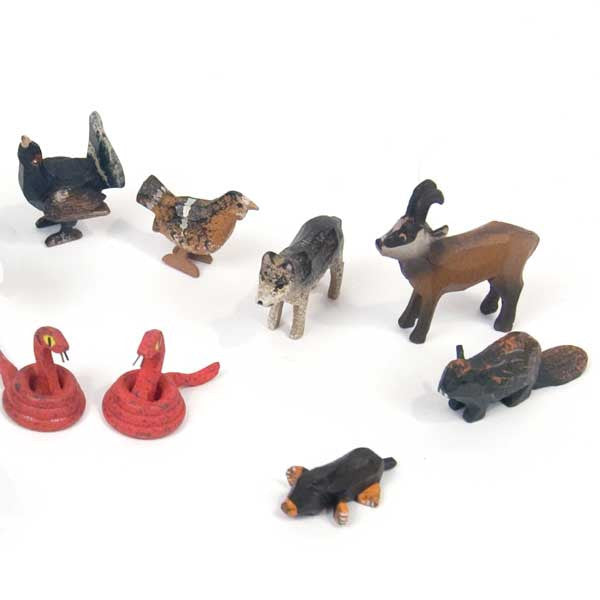 Noah's Ark Animals - 6 Pairs Assortment #6 / Size Small